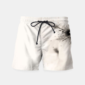 Thumbnail image of Monochrome Blossoms Close-up Swim Shorts, Live Heroes