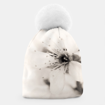 Thumbnail image of Monochrome Blossoms Close-up Beanie, Live Heroes