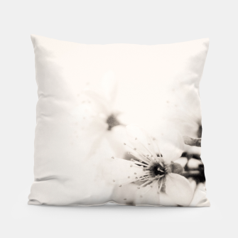Thumbnail image of Monochrome Blossoms Close-up Pillow, Live Heroes