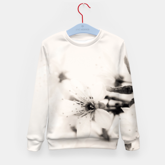 Thumbnail image of Monochrome Blossoms Close-up Kid's Sweater, Live Heroes