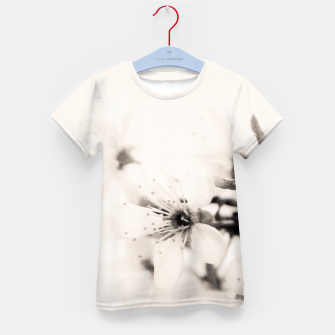 Thumbnail image of Monochrome Blossoms Close-up Kid's T-shirt, Live Heroes