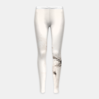 Thumbnail image of Monochrome Blossoms Close-up Girl's Leggings, Live Heroes