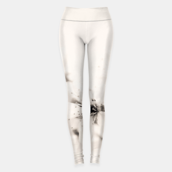 Miniatur Monochrome Blossoms Close-up Leggings, Live Heroes