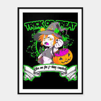 Thumbnail image of Trick or Treat black Cartel con marco, Live Heroes