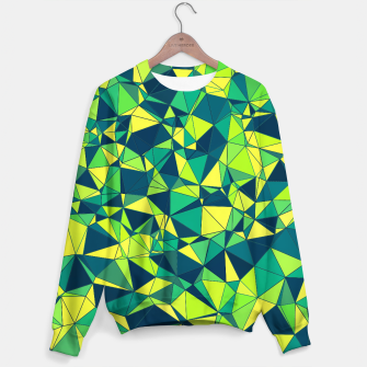 Thumbnail image of Greenery Polygonal Pattern Sweater, Live Heroes