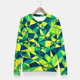 Thumbnail image of Greenery Polygonal Pattern Fitted Waist Sweater, Live Heroes