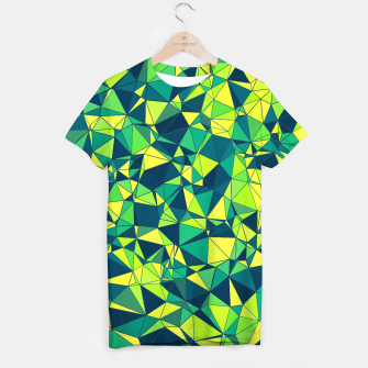 Thumbnail image of Greenery Polygonal Pattern T-shirt, Live Heroes