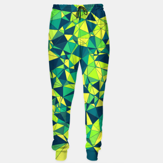 Miniature de image de Greenery Polygonal Pattern Sweatpants, Live Heroes