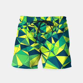 Thumbnail image of Greenery Polygonal Pattern Swim Shorts, Live Heroes