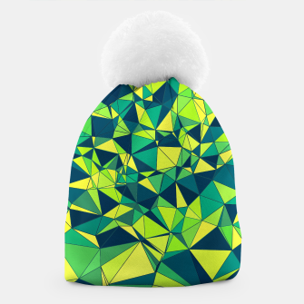 Thumbnail image of Greenery Polygonal Pattern Beanie, Live Heroes