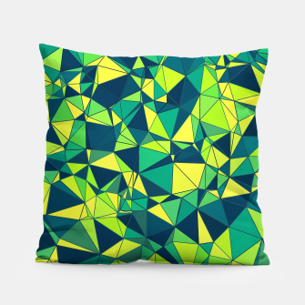 Thumbnail image of Greenery Polygonal Pattern Pillow, Live Heroes