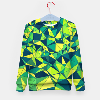 Thumbnail image of Greenery Polygonal Pattern Kid's Sweater, Live Heroes