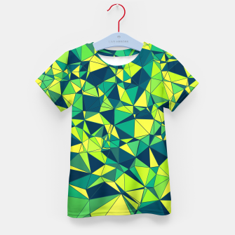Thumbnail image of Greenery Polygonal Pattern Kid's T-shirt, Live Heroes