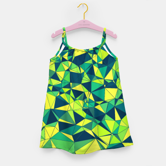 Thumbnail image of Greenery Polygonal Pattern Girl's Dress, Live Heroes