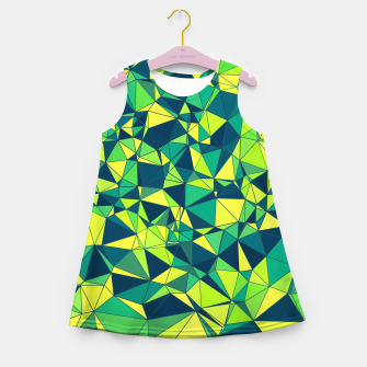 Thumbnail image of Greenery Polygonal Pattern Girl's Summer Dress, Live Heroes