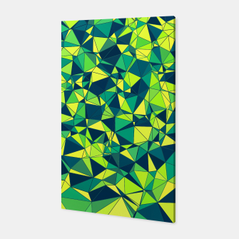 Thumbnail image of Greenery Polygonal Pattern Canvas, Live Heroes