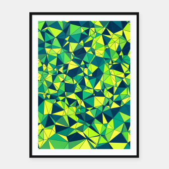 Thumbnail image of Greenery Polygonal Pattern Framed poster, Live Heroes