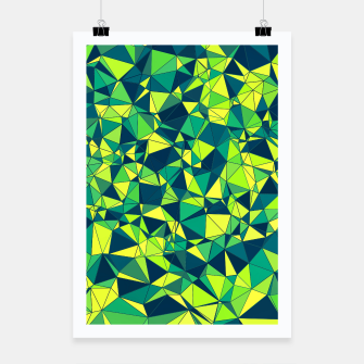 Thumbnail image of Greenery Polygonal Pattern Poster, Live Heroes