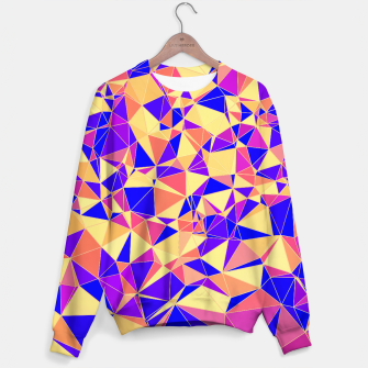 Thumbnail image of Abstract Colorful Low Poly Pattern Sweater, Live Heroes
