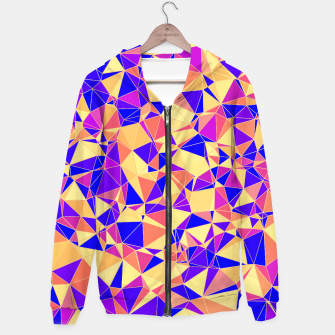 Thumbnail image of Abstract Colorful Low Poly Pattern Hoodie, Live Heroes