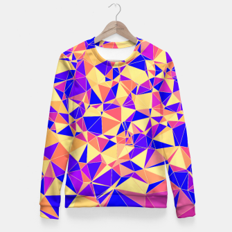 Thumbnail image of Abstract Colorful Low Poly Pattern Fitted Waist Sweater, Live Heroes