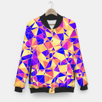 Thumbnail image of Abstract Colorful Low Poly Pattern Baseball Jacket, Live Heroes