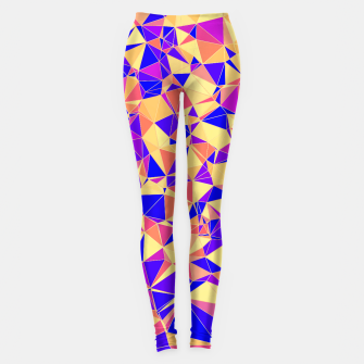 Thumbnail image of Abstract Colorful Low Poly Pattern Leggings, Live Heroes
