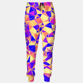 Miniature de image de Abstract Colorful Low Poly Pattern Sweatpants, Live Heroes