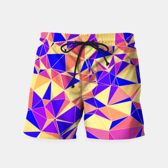 Thumbnail image of Abstract Colorful Low Poly Pattern Swim Shorts, Live Heroes