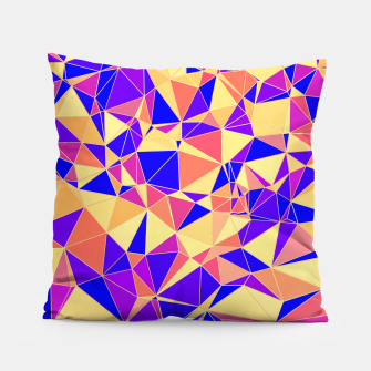 Thumbnail image of Abstract Colorful Low Poly Pattern Pillow, Live Heroes