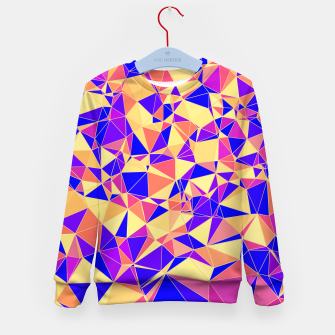 Thumbnail image of Abstract Colorful Low Poly Pattern Kid's Sweater, Live Heroes