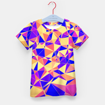 Thumbnail image of Abstract Colorful Low Poly Pattern Kid's T-shirt, Live Heroes