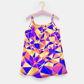 Thumbnail image of Abstract Colorful Low Poly Pattern Girl's Dress, Live Heroes