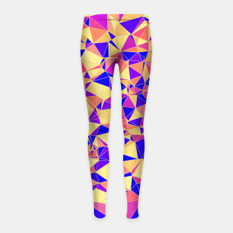 Thumbnail image of Abstract Colorful Low Poly Pattern Girl's Leggings, Live Heroes