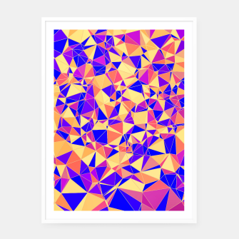 Thumbnail image of Abstract Colorful Low Poly Pattern Framed poster, Live Heroes