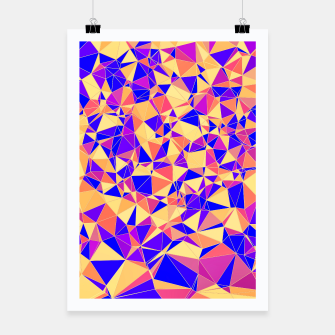 Thumbnail image of Abstract Colorful Low Poly Pattern Poster, Live Heroes
