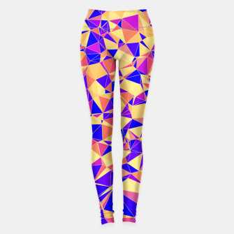Miniatur Abstract Colorful Low Poly Pattern Leggings, Live Heroes