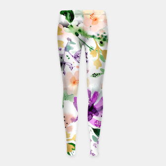 Thumbnail image of Violet Girl's Leggings, Live Heroes