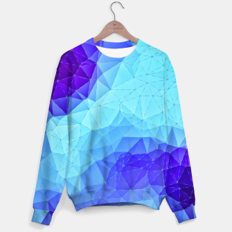 Thumbnail image of Blue Low Poly Design Sweater, Live Heroes