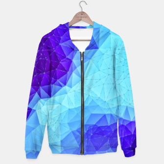 Thumbnail image of Blue Low Poly Design Hoodie, Live Heroes