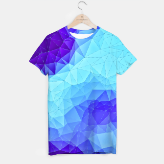 Thumbnail image of Blue Low Poly Design T-shirt, Live Heroes