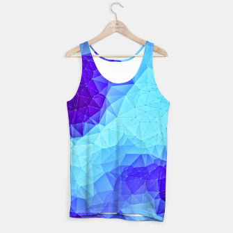 Miniaturka Blue Low Poly Design Tank Top, Live Heroes