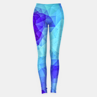 Thumbnail image of Blue Low Poly Design Leggings, Live Heroes