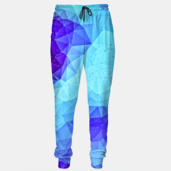 Miniature de image de Blue Low Poly Design Sweatpants, Live Heroes