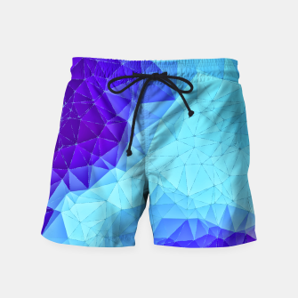 Thumbnail image of Blue Low Poly Design Swim Shorts, Live Heroes