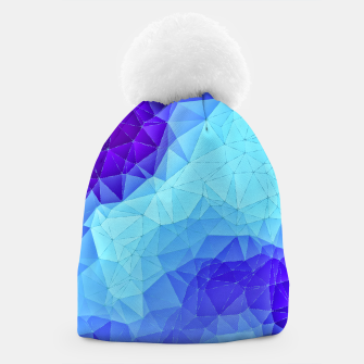 Thumbnail image of Blue Low Poly Design Beanie, Live Heroes