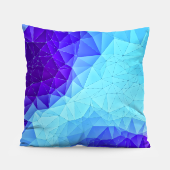 Thumbnail image of Blue Low Poly Design Pillow, Live Heroes