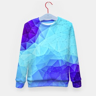 Thumbnail image of Blue Low Poly Design Kid's Sweater, Live Heroes