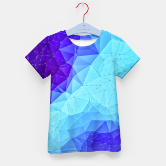 Thumbnail image of Blue Low Poly Design Kid's T-shirt, Live Heroes