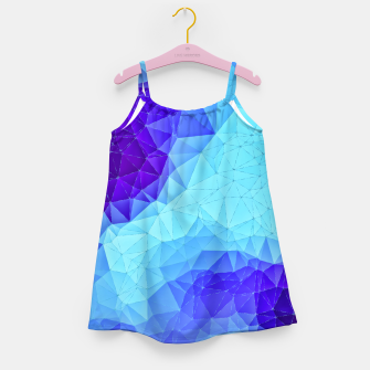Thumbnail image of Blue Low Poly Design Girl's Dress, Live Heroes